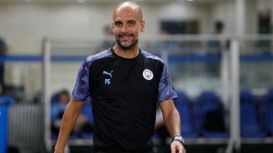 Guardiola was in relaxed mood ahead of the start of the club's pre-season with the Premier League Asia Trophy