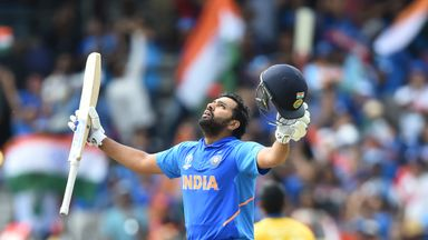 Rohit Sharma is the first man to hit five hundreds in a single World Cup