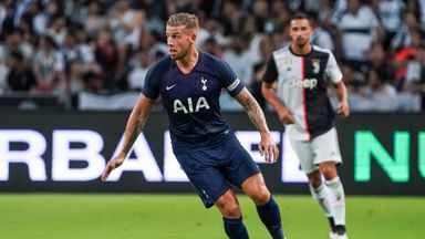Toby Alderweireld captained Tottenham in their friendly against Juventus