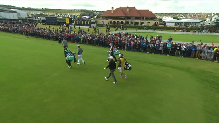 An emotional Graeme McDowell got his Open Championship underway on Thursday in-front of an enthusiastic home crowd