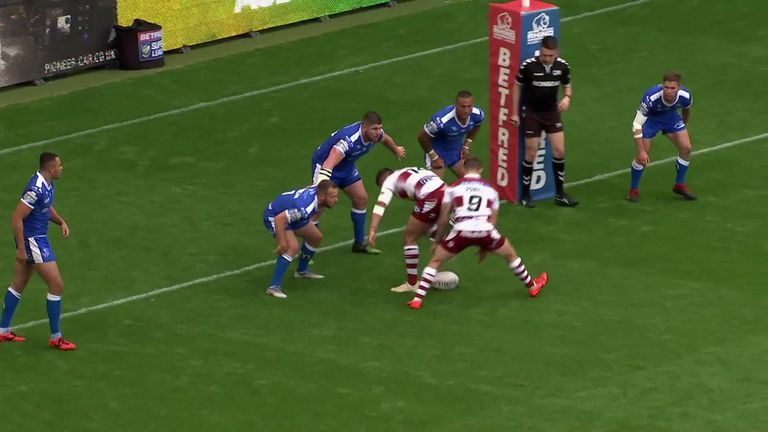 Highlights of Wigan Warriors' 52-10 Super League win over Hull KR on Friday