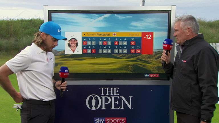Tommy Fleetwood gives a reflection on his impressive score of -12 that leaves him four behind Shane Lowry after day three of The Open Championship