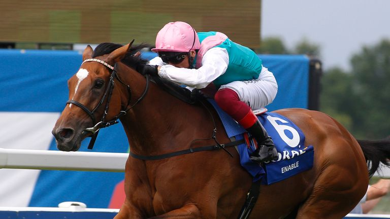 Frankie Dettori and Enable win the Coral-Eclipse