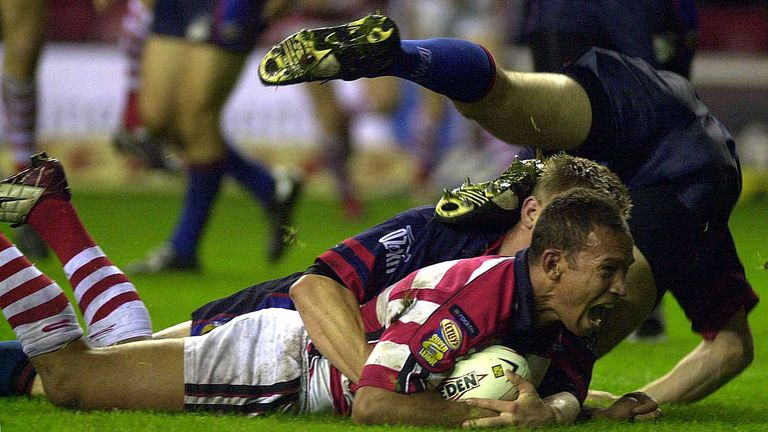 Head coach Adrian Lam enjoyed a successful playing career with Wigan