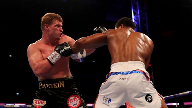 Povetkin caused Anthony Joshua problems before he was stopped in seven rounds when they met at Wembley last September