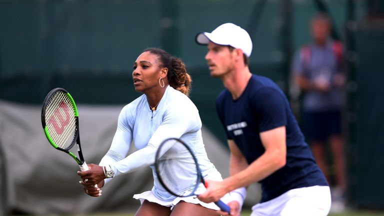 Serena Williams won the mixed doubles title at Wimbledon in 1998
