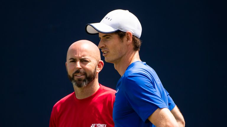 Jamie Delgado (left) is happy to see Andy Murray pain-free