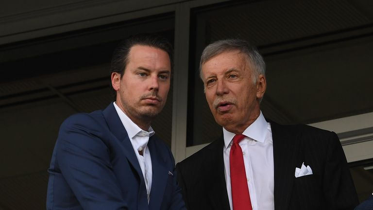 Kroenke says his father, Stan Kroenke, is planning for the long-term at Arsenal