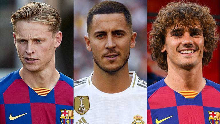 Antoine Griezmann and Eden Hazard arrive in Barcelona and Real Madrid's summer of spending