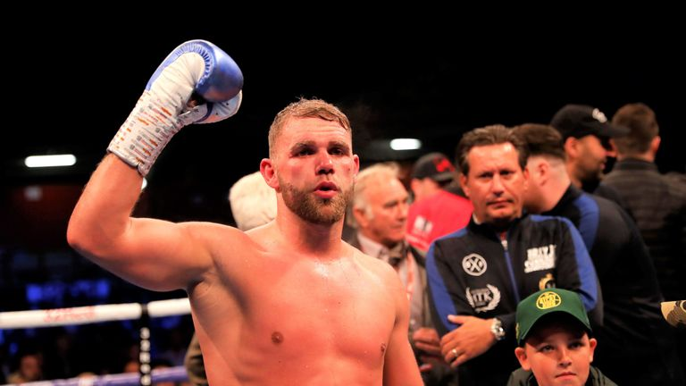 Billy Joe Saunders is the current WBO super-middleweight champion