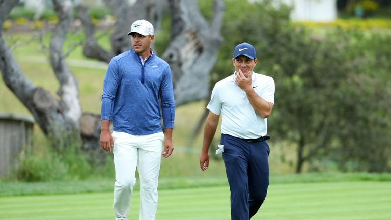 Brooks Koepka and Francesco Molinari played together during the opening two rounds of the US Open