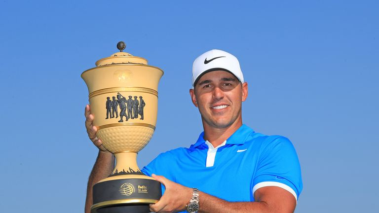 Brooks Koepka won his maiden World Golf Championship title at the WGC-FedEx St. Jude Invitational in 2019