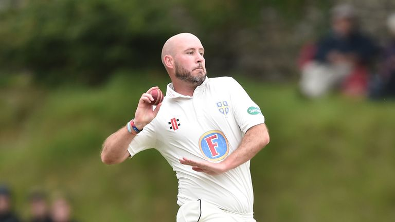 Chris Rushworth bowled an excellent late spell for Durham