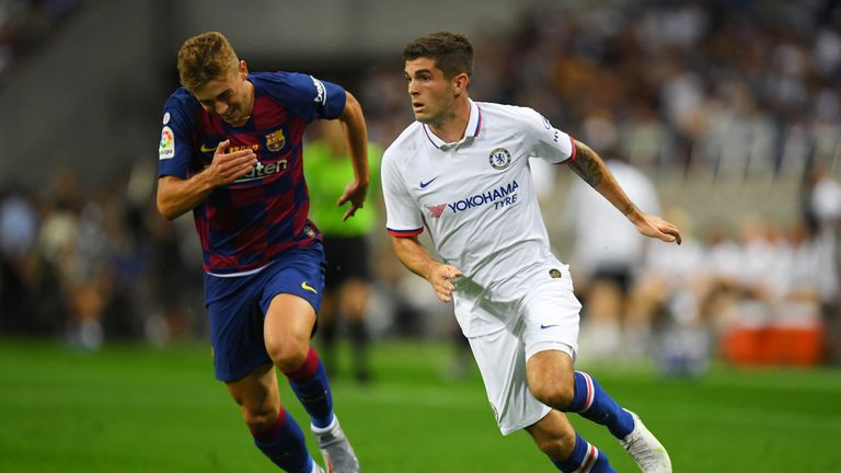 Christian Pulisic was making his first start as a Chelsea player