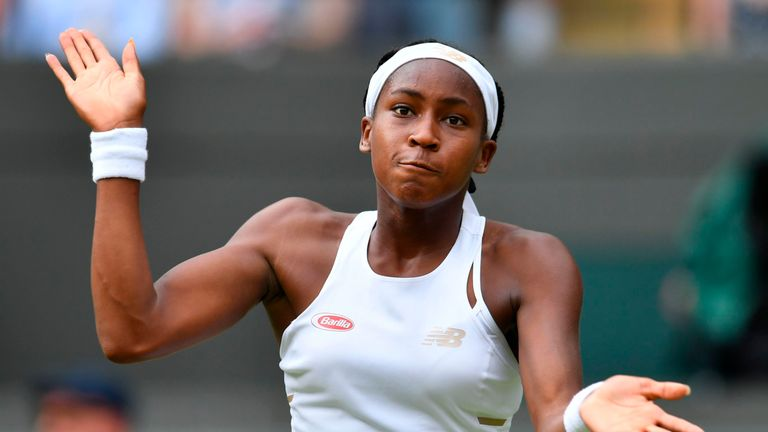 Cori Gauff's dream Wimbledon run ended by Simona Halep in fourth round