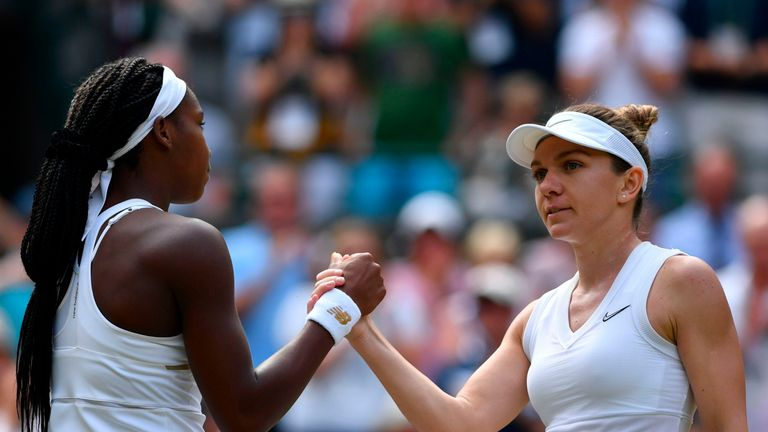 Former world No 1 Simona Halep proved too steep an opponent