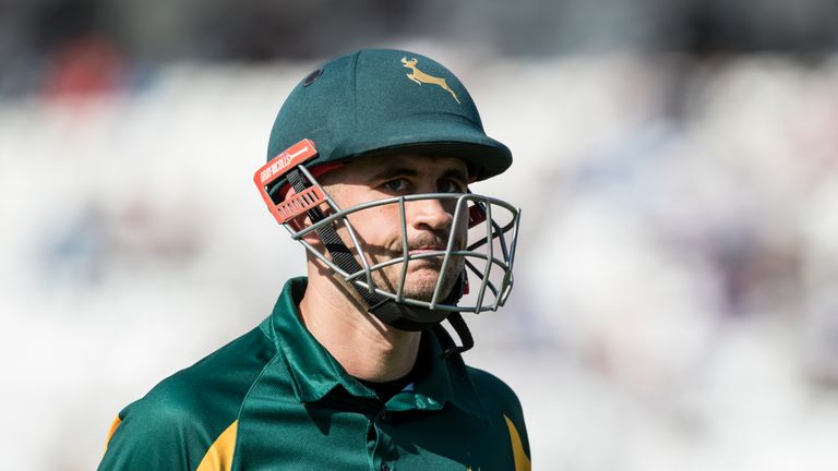 It's been a difficult year so far for Nottinghamshire's Alex Hales