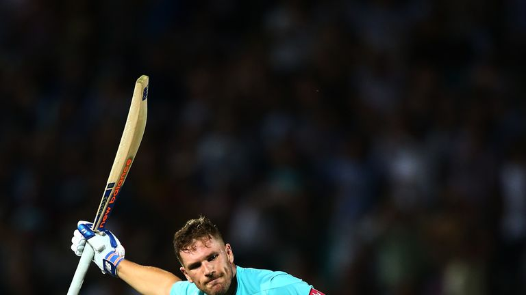 Australia one-day captain Aaron Finch hit two centuries for Surrey in the Blast last season