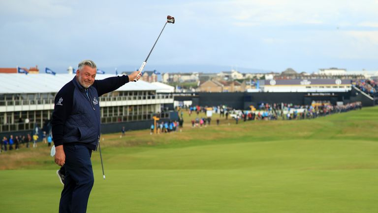Clarke has previous experience of emotional opening tee shots