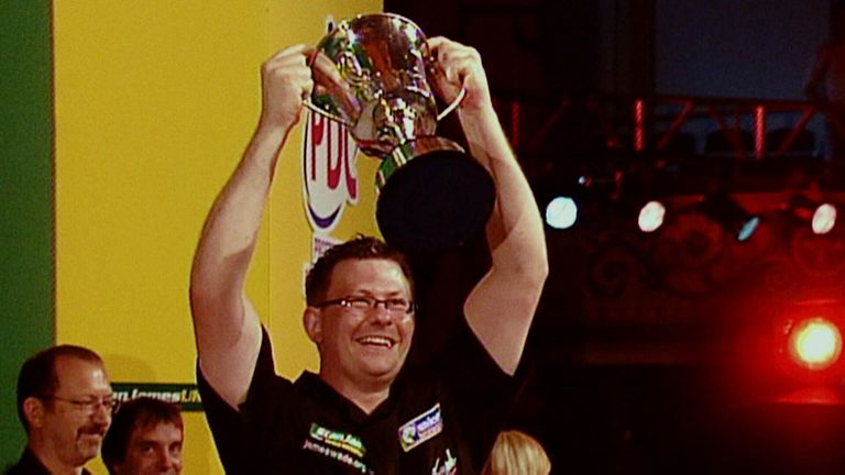 James Wade's 2007 triumph was the first of his nine major wins to date