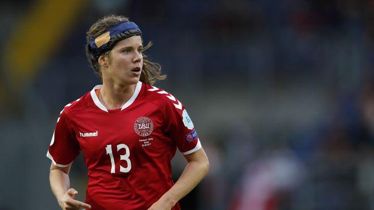 Pedersen has worn protective headgear ever since her concussion