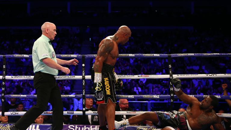 Whyte was on the floor for the third time in his career