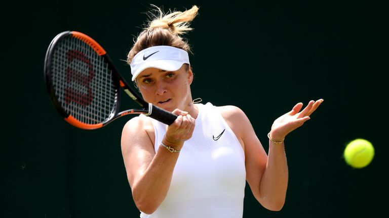 Elina Svitolina has made the Wimbledon fourth round for the second time in three years