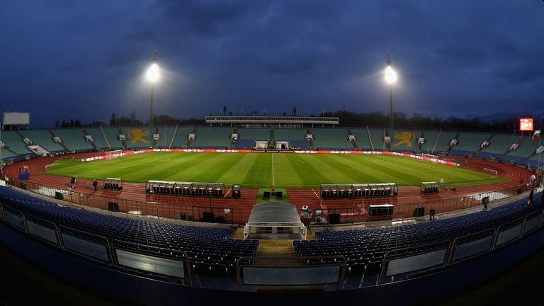 England face Bulgaria at the Vasil Levski National Stadium in Sofia on October 14