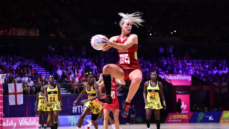 Chelsea Pitman made the move to become an England player after falling out of love with netball and is taking aim at a second World Cup winners' medal