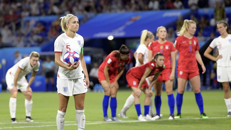 England Women captain Houghton missed a late penalty