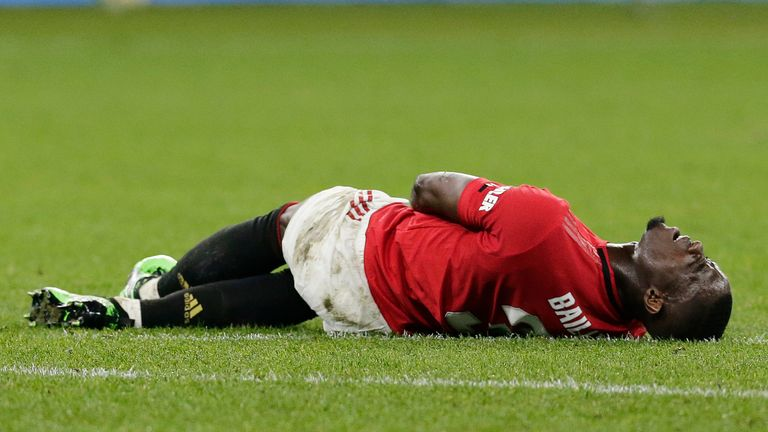 Eric Bailly suffered a knee injury during a pre-season match against Chelsea
