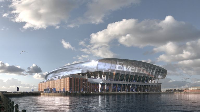 Everton have released images of their proposed new stadium
