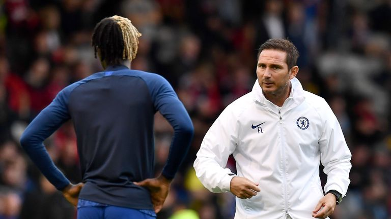 It was Lampard who took Chelsea's half-time warmups