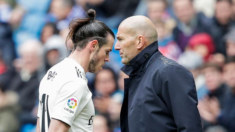 Gareth Bale's relationship with Zinedine Zidane has broken down