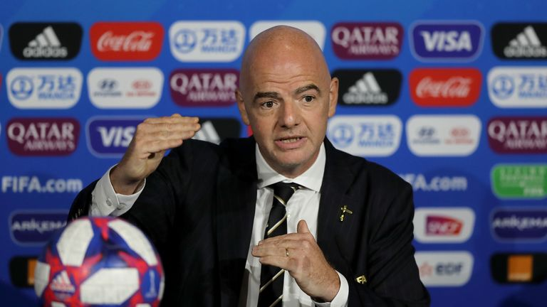 Gianni Infantino has been criticised for his previous response to abuse claims.