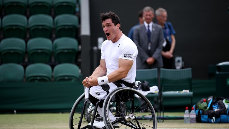 Gustavo Fernandez added the Wimbledon wheelchair singles title to his Australian and French Open wins