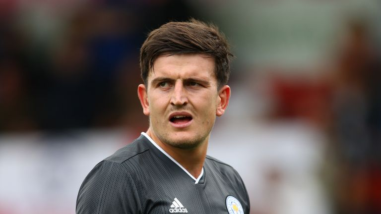 Manchester United are currently £10m below Leicester's asking price for Harry Maguire