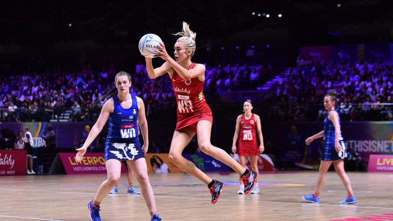 Helen Housby spent the final quarter of the match against Scotland at WA