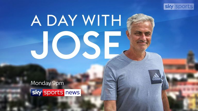 Sky Sports News will have more from Mourinho throughout the week, plus on Monday we'll bring you an hour-long special from our day with the two-time Champions League winner