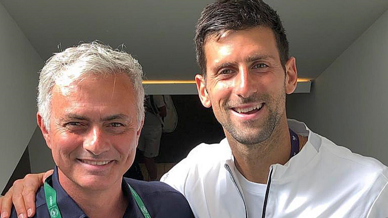 Jose Mourinho was in attendance as Djokovic made the final