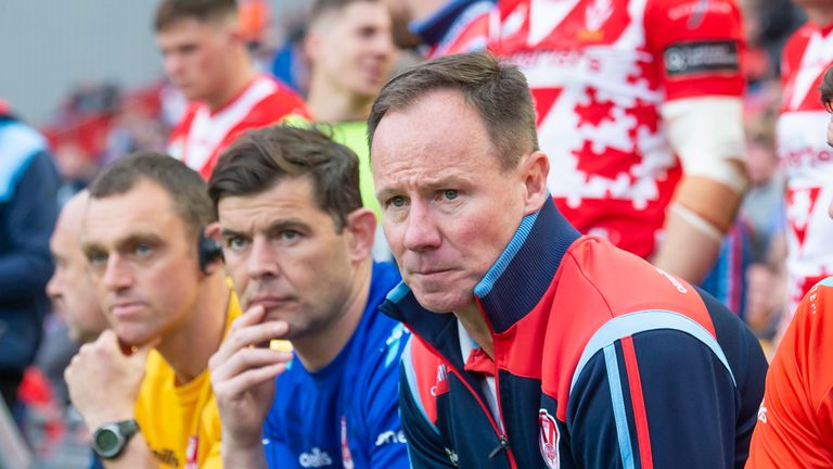 Outgoing St Helens coach Justin Holbrook has worked with Matty Smith