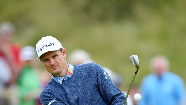 Justin Rose is just two off the lead at halfway