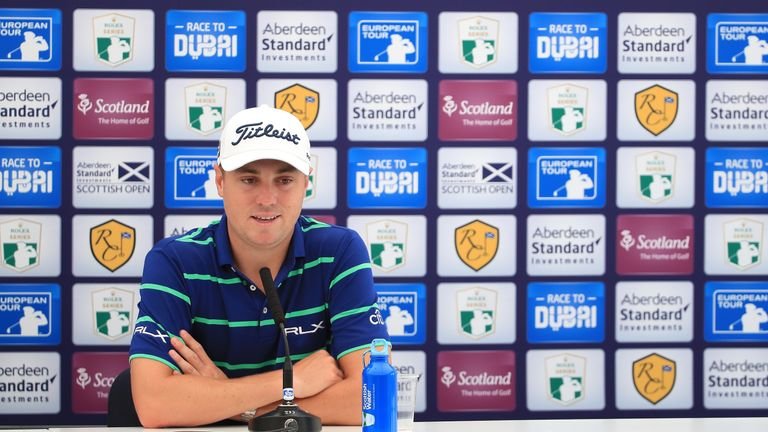 Thomas spoke to the media in a pre-tournament press conference in East Lothian