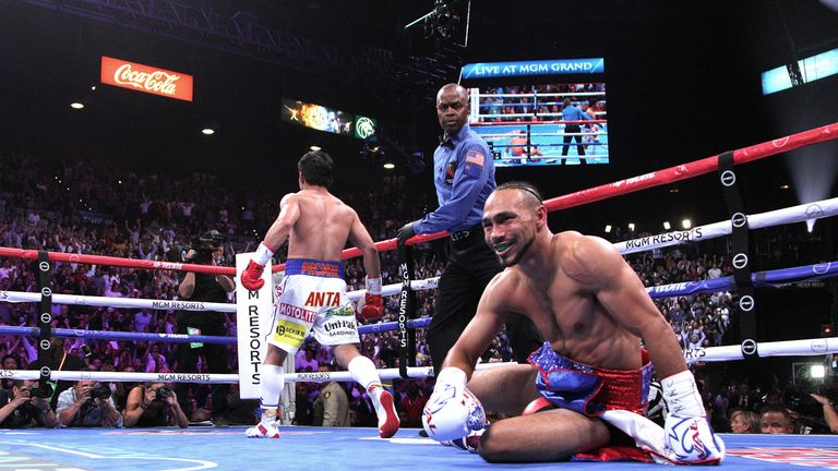 Pacquaio floored Thurman in the first round of the bout