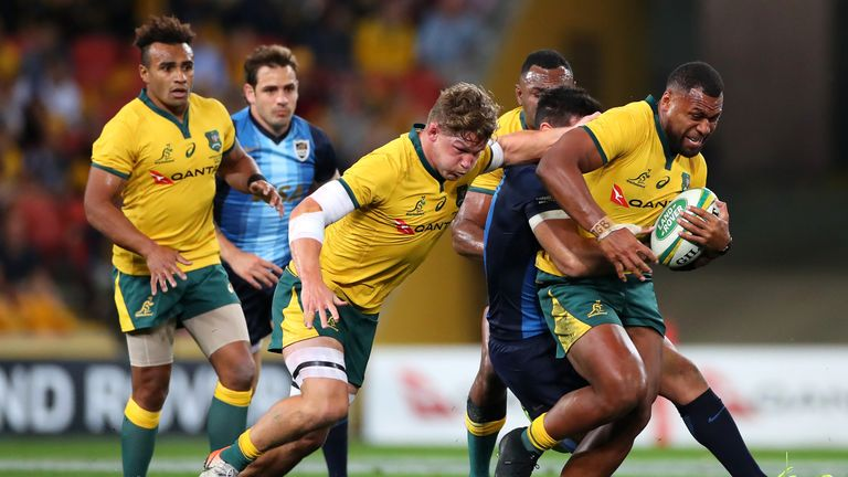 Australia centre Samu Kerevi is a force to be reckoned with