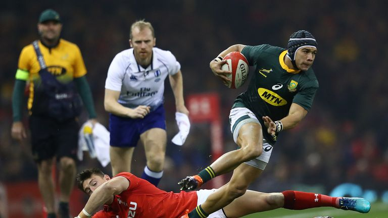 Toulouse wing Cheslin Kolbe picked up his Springbok debut in 2018 and has really impressed