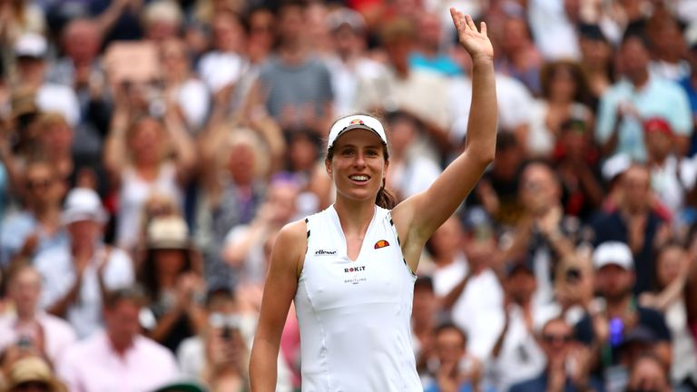 Johanna Konta reached the Wimbledon semi-finals in 2017