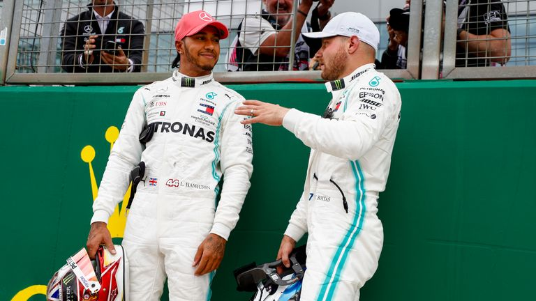 Lewis Hamilton and Valtteri Bottas will start on the front row at Silverstone, with the British GP starting at 2:10pm
