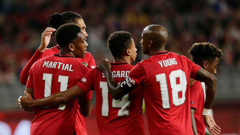 Manchester United thrashed Leeds in their second pre-season game in Perth