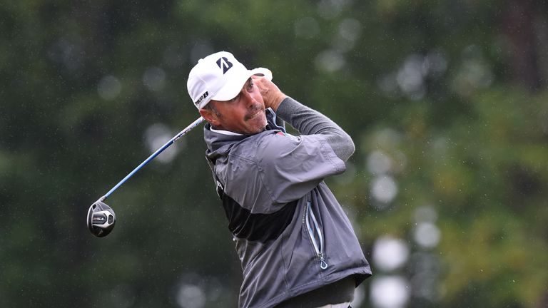 Matt Kuchar holds a share of the early lead in Scotland